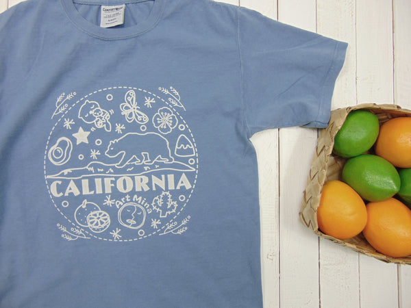 "Art Mina ""California Bear"" Light Blue T-shirt"