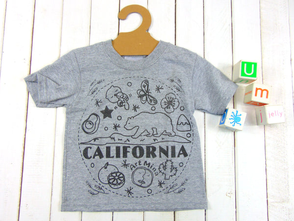 Art Mina [Kids Tee & Face Mask Sets]California Bear