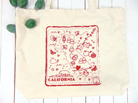 "Canvas Tote Bag ""We love our hometown"""