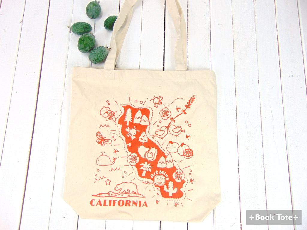 "Canvas Tote Bag ""Kawaii! California Map"""