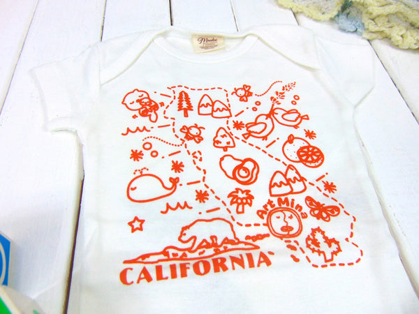 "Organic Baby Onesie ""California Map"" [ Short Sleeves / Long Sleeve ]"