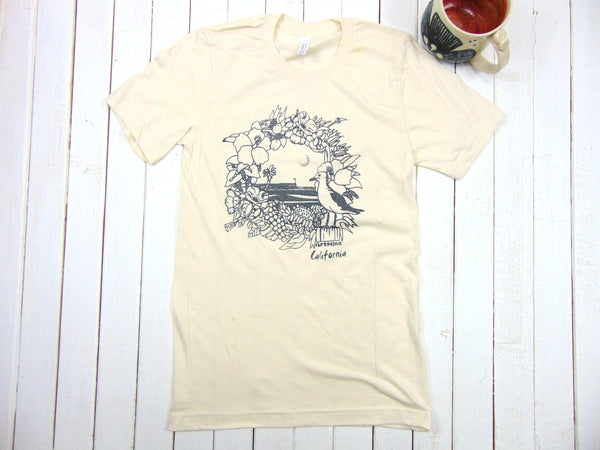 "Art Mina Soft Unisex Tee ""California Pier"""