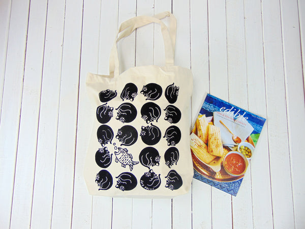 Black Cat Canvas Tote Bag