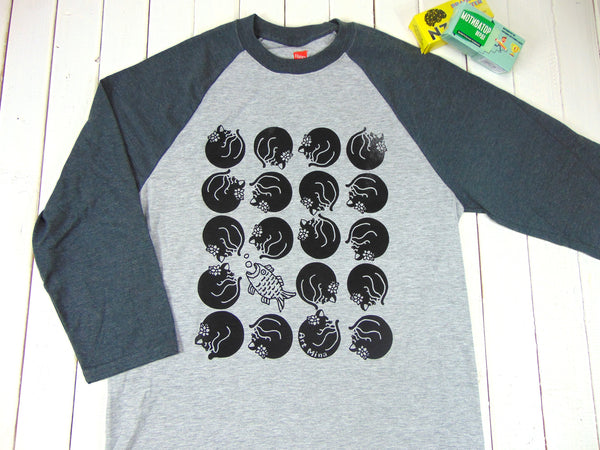 Black Cat Baseball Tt-shirt
