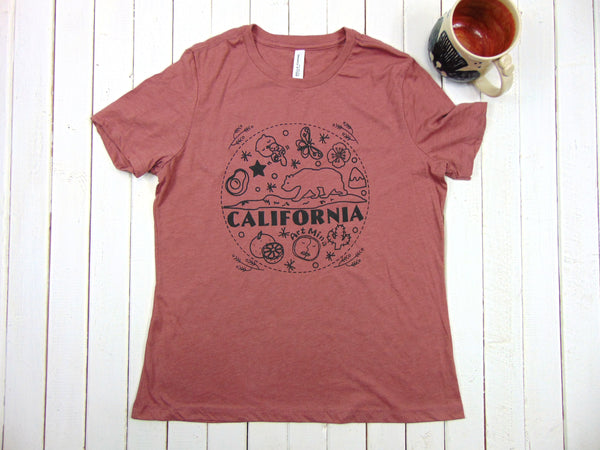"Art Mina Soft Women's Tee ""California Bear"""