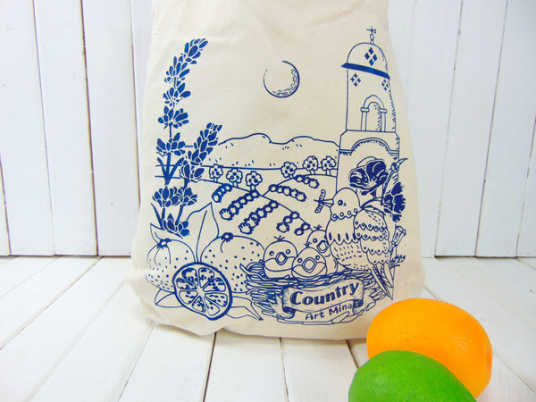 "Country Love ""Me! Me!""  Cotton Canvas Tote Bag"