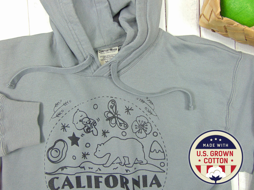"Art Mina [U.S. Cotton] Unisex Hoodie ""California Bear"""
