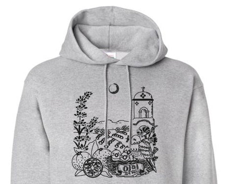 "Eco Hoodie ""Ojai California"" Up To  5XL"