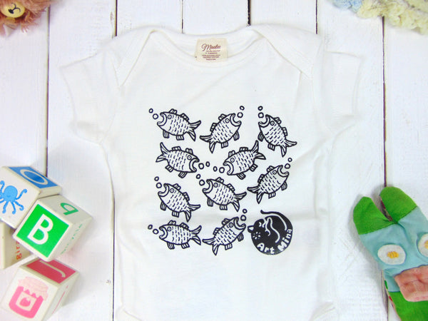 Fishes Organic Baby Onesie