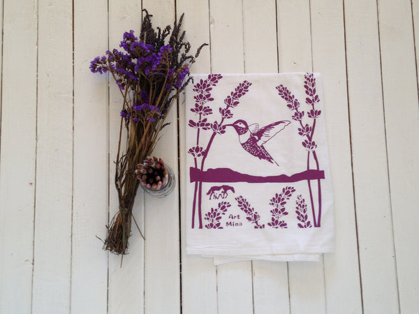 "Flour Sack Kitchen Tea Towel ""Ojai Spirit"""
