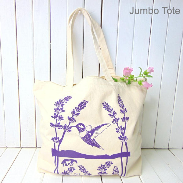 """Ojai Spirit"" Jumbo Natural Cotton Canvas Tote Bag"