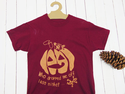 "Photo of Art Mina Kids Halloween T-shirt ""Dropped Halloween Pumpkin""."