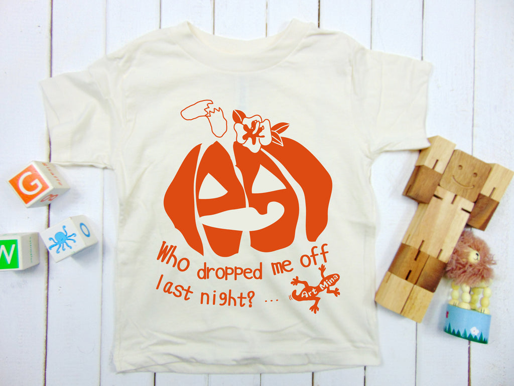 "Toddler & Youth Tee ""Jack O'Lantern - Who Dropped me off last night?"""