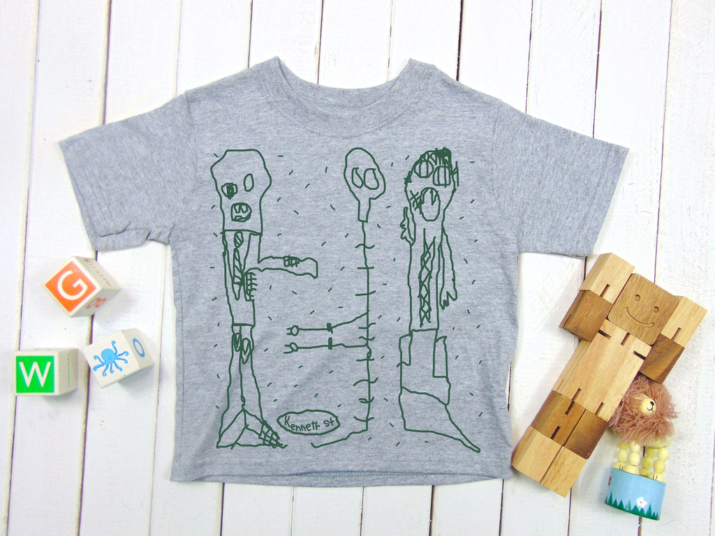 A photo of  ZOMBIE, MUMMY, SKELETON! Halloween Monster Kids T-shirt