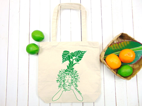 "A photo of Canvas Tote Bag ""Morning Kona Coffee"""
