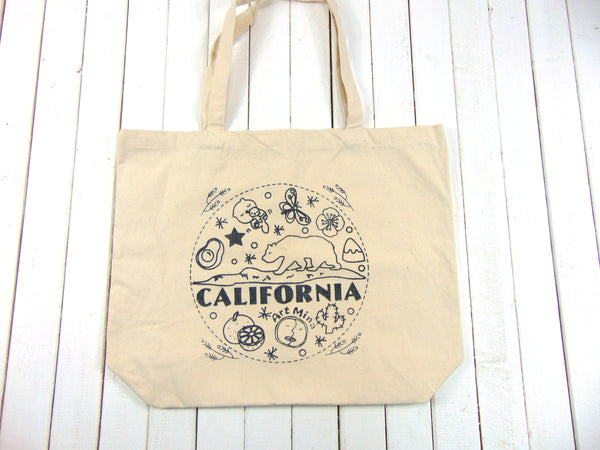 "Canvas Tote Bag ""California Bear!"""
