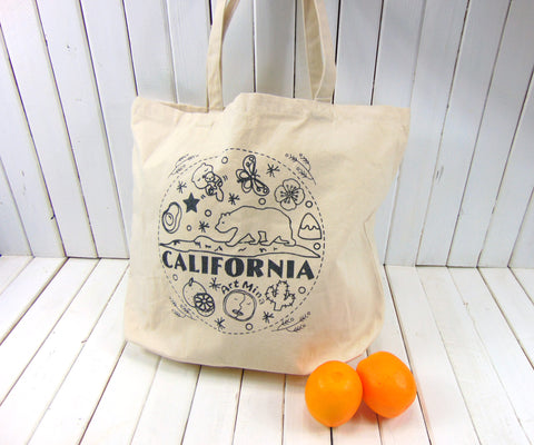 "Art Mina ""California Bear"" Large Canvas Tote Bag"