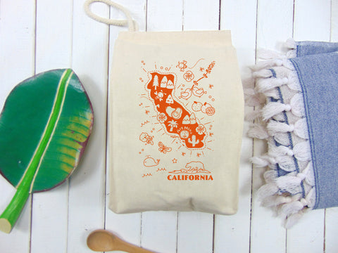 Canvas Lunch Bag - Map of California