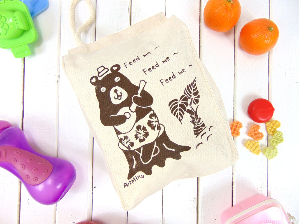 Bear Canvas Lunch Bag