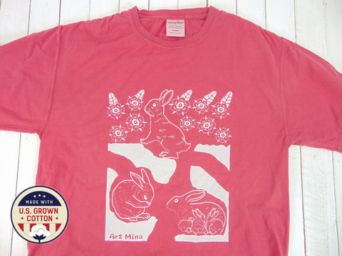 "American Grown Cotton Tee ""Hole Rabbit"""