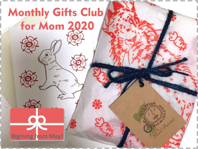 Art Mina Monthly Gift Club for Mom 2020!  12 Months [Free Shipping] Begining from May