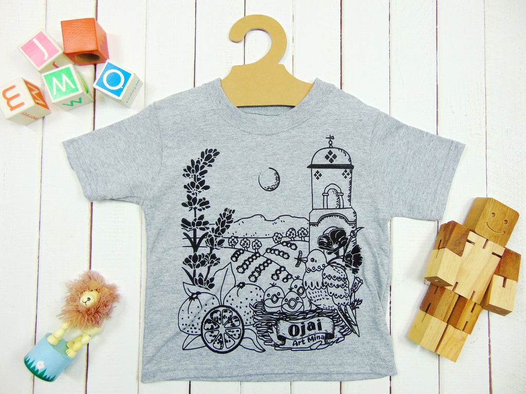 "Art Mina Kawaii ! ""California Map"" Toddler Funny Tee"