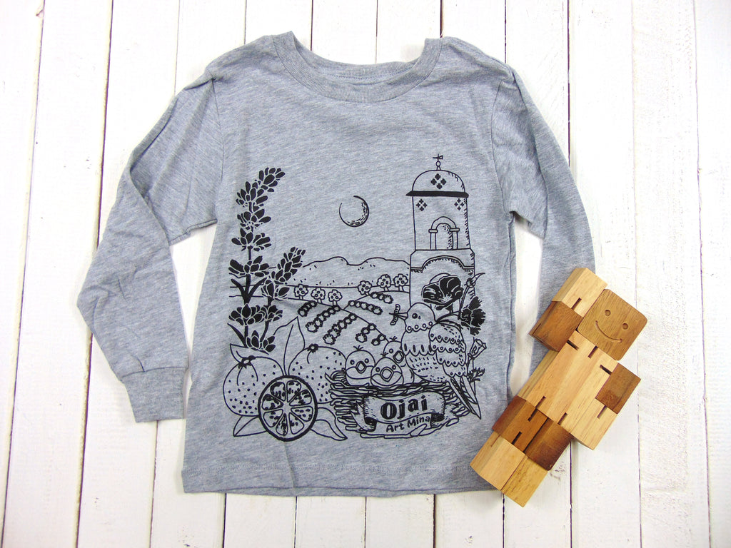 "Art Mina ""Ojai California"" Toddler Long Sleeve Tee"