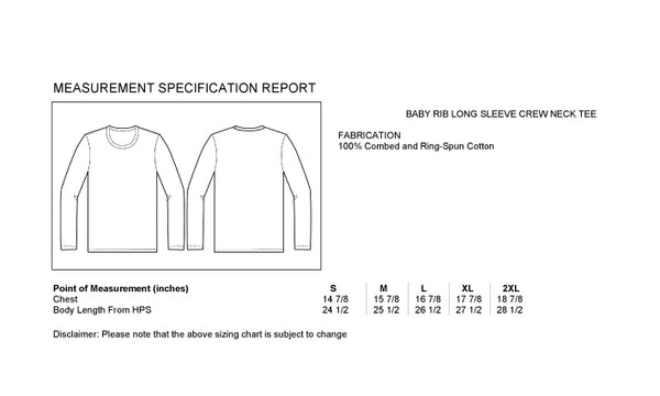 "A Size Chart of Art Mina Women's Soft Long Sleeve Shirt ""Ojai California"""