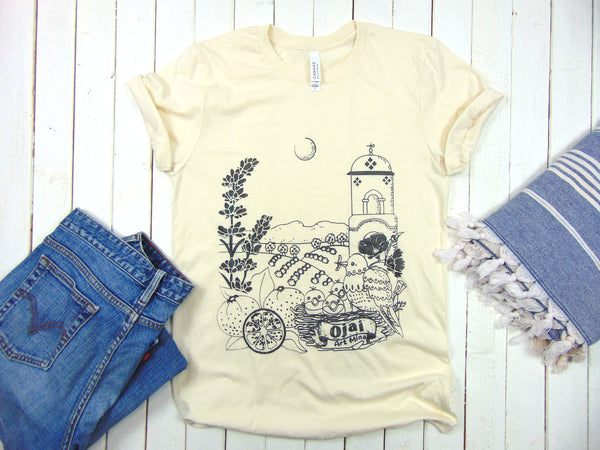 Ojai California Soft Unisex T-shirt  [Natural]