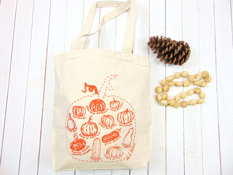 "Art Mina Canvas Tote Bag ""Pumpkin Sketch"""