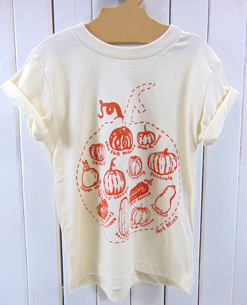Art Mina Kids Pumpkin T-Shirt