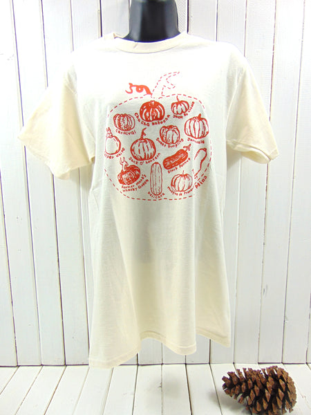 "A photo of Basic100% Cotton T-Shirt ""Pumpkin Sketch"" Up To 3X"