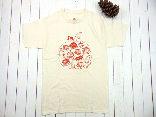 "Basic100% Cotton T-Shirt ""Pumpkin Sketch"" Up To 3X [Free Shipping]"