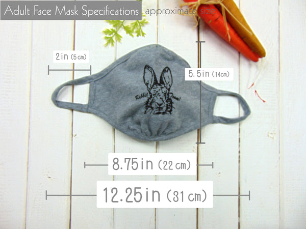 Art Mina Cloth Face Mask Rabbit