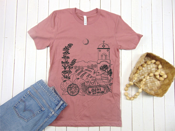 Ojai California Soft Unisex T-shirt [Mauve]