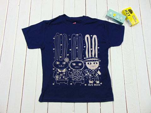 Bunnies Kids Funny Tee