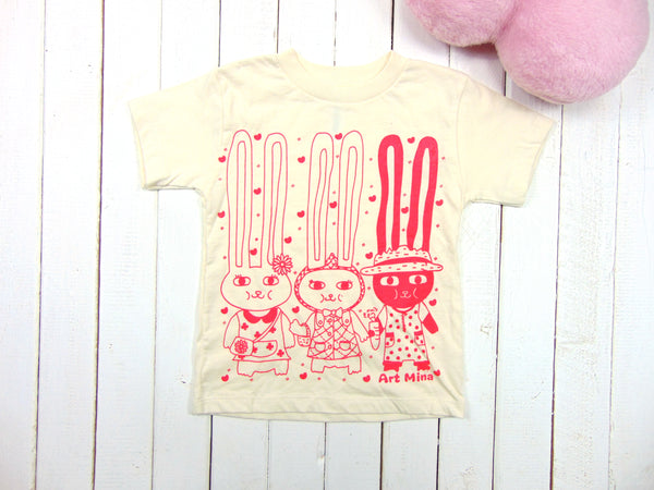 "Toddler & Youth Tee ""60's Bunnies"""