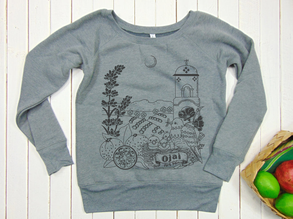 "Art Mina Women's Fleece Sweatshirt ""Ojai California"""