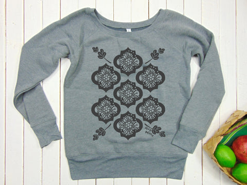 "Art Mina Women's Fleece Sweatshirt ""Ohia and Lehua"""
