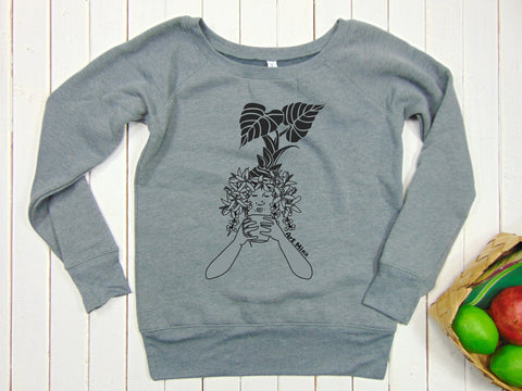 "Women's Fleece Sweatshirt ""Kona Coffee"""