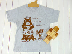 """Toddler & Youth Short Sleeve Tee """"Hungry Bear"""" [Free Shipping]"""