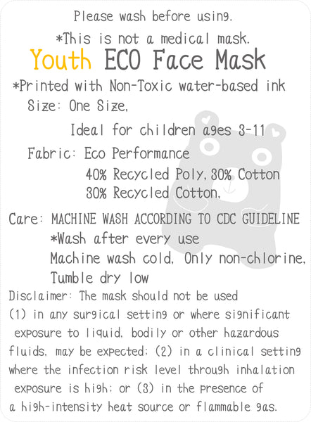Art Mina Youth Eco Face Mask