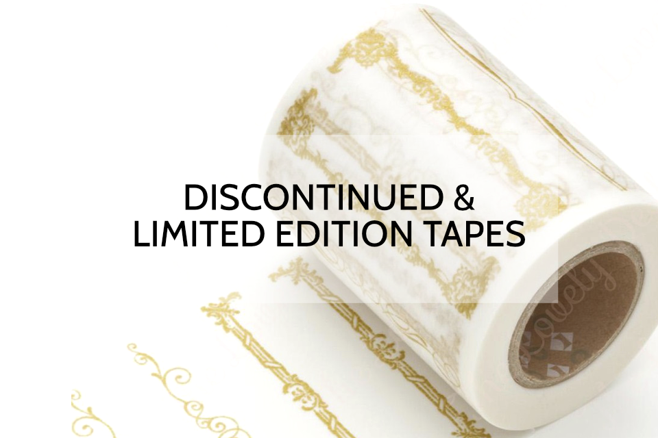 Discontinued and Limited Edition Washi Tapes