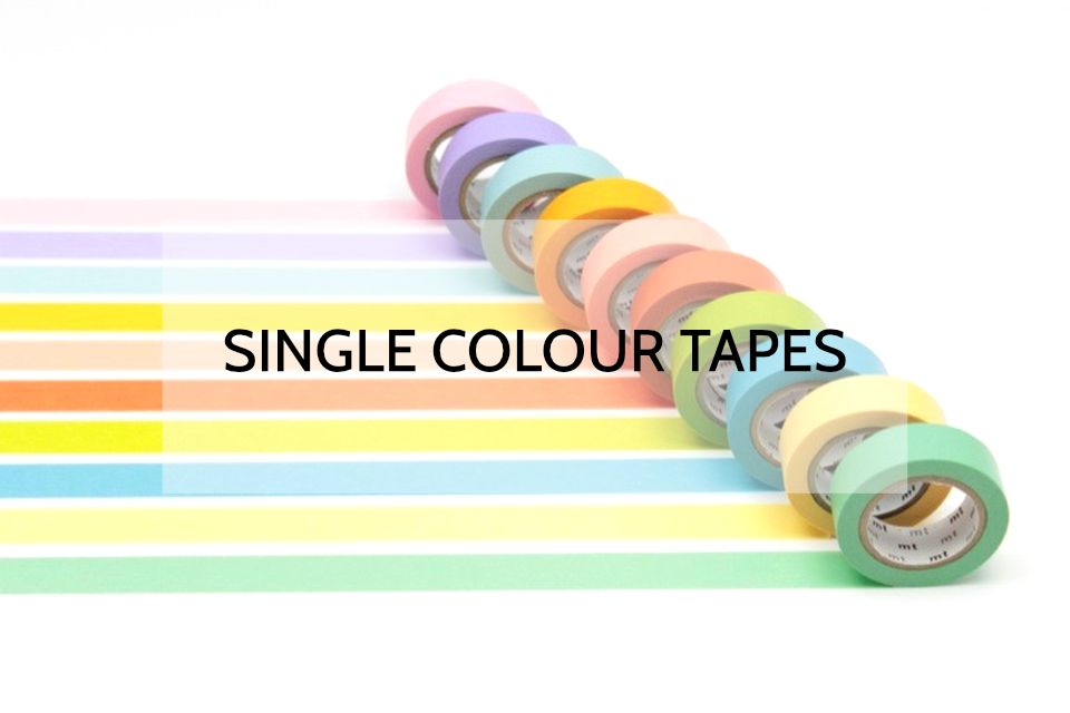 Solid Single Colour Washi Tapes