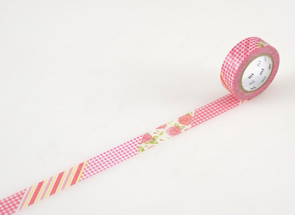 MT ex Flower Red Washi Tape (15mm)