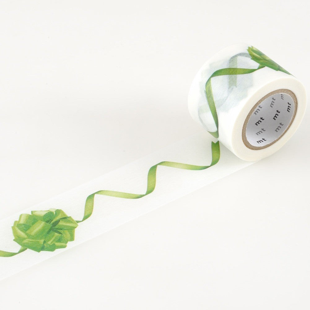 MT ex Ribbon Green Washi Tape (35 mm) [Discontinued / Limited]
