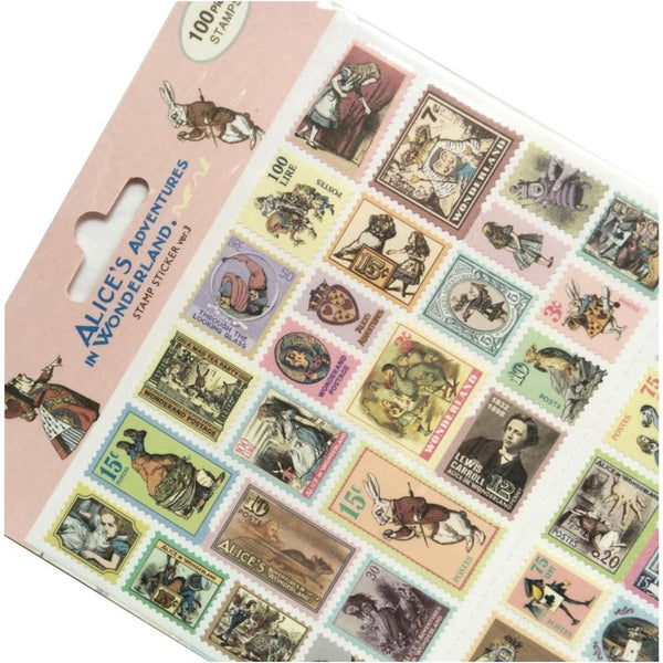 Alice in Wonderland Stamp Stickers Ver.3