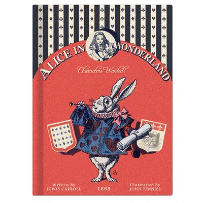Alice in Wonderland Hardback Lined Notebook
