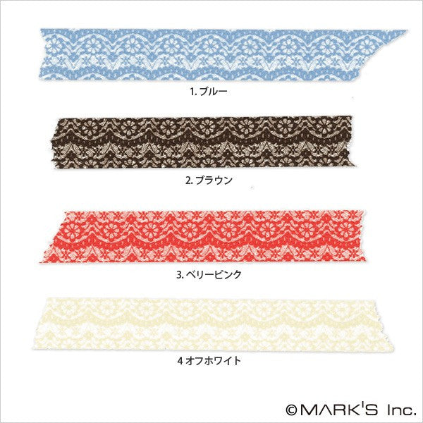 Masté Grand - Lace Blue Washi Tape (15mm)