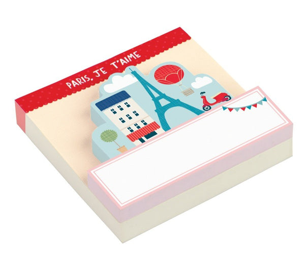 Paris Shaped Memo Pad